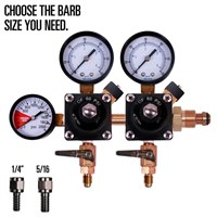 Nitrogen Regulator - Three Gauge - Dual Body - TOF