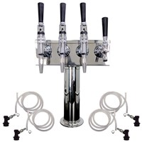 4 Faucet Cold Brew Coffee Draft Tower - 1 Cold Brew & 3 Nitro /