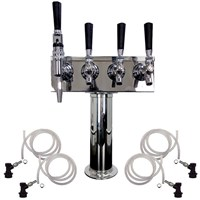 4 Faucet Cold Brew Coffee Draft Tower - 3 Cold Brew & 1 Nitro /