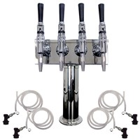 4 Faucet Nitro Coffee Draft Tower /
