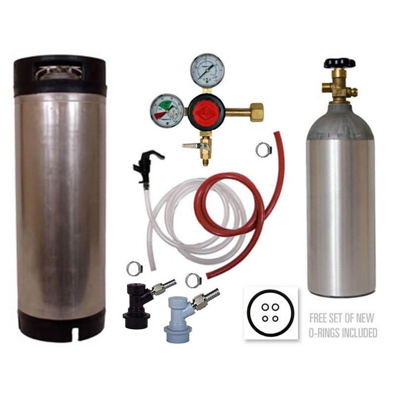 Basic Homebrew Keg Kit Used Ball Lock Keg Taprite