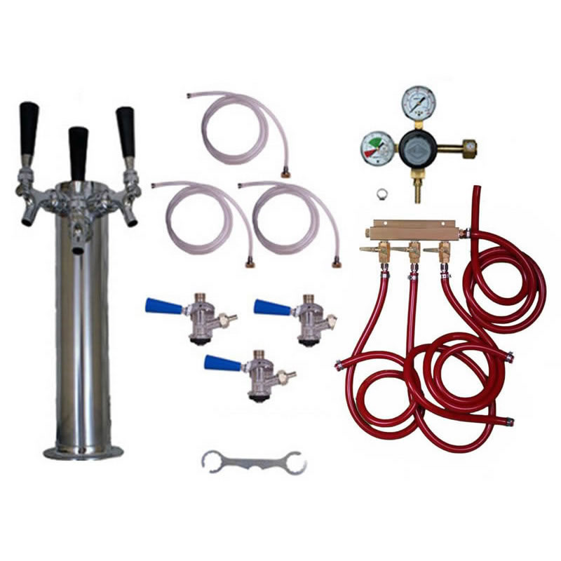 taprite kegerator tower conversion kit 3 taps