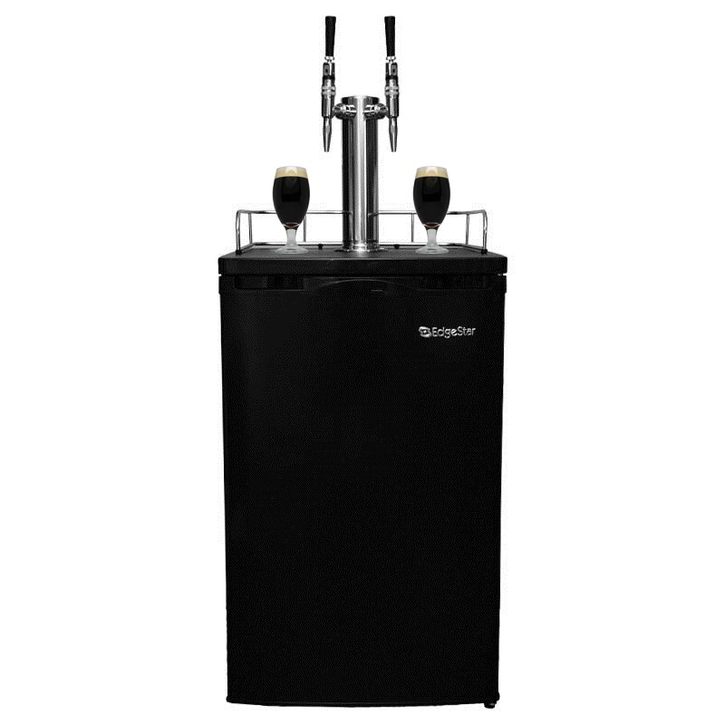 Nitro Coffee 2 Tap Kegerator - Stout Faucets for Serving Nitro Coffee