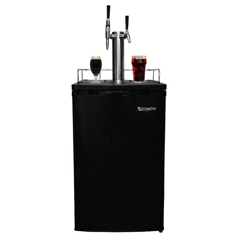 Nitro Coffee and Iced Coffee 2 Tap Kegerator - Regular and Stout Taps