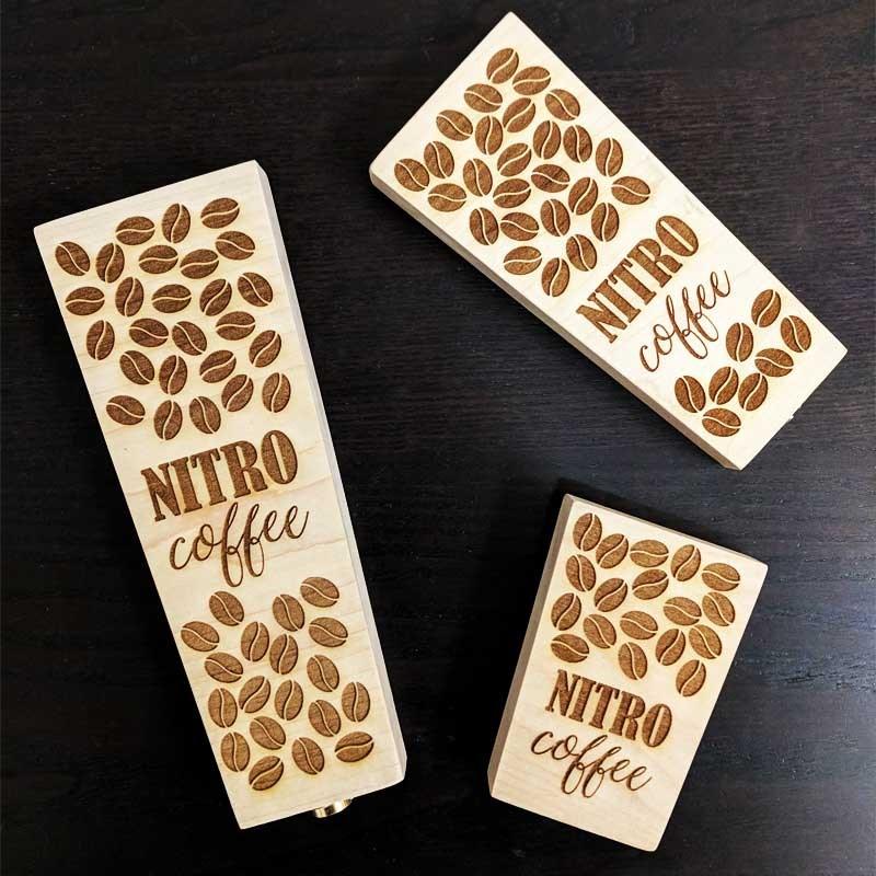 Nitro Coffee Wood Tap Handles Laser Engraved
