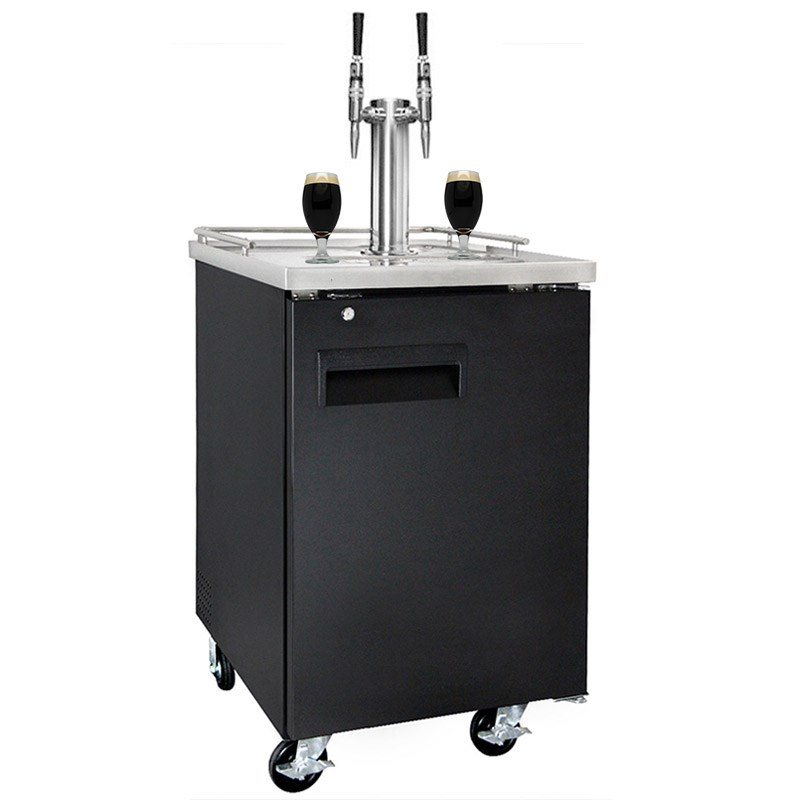 Nitro Coffee 2 Tap Kegerator (NSF Approved) - Nitro Coffee Faucets