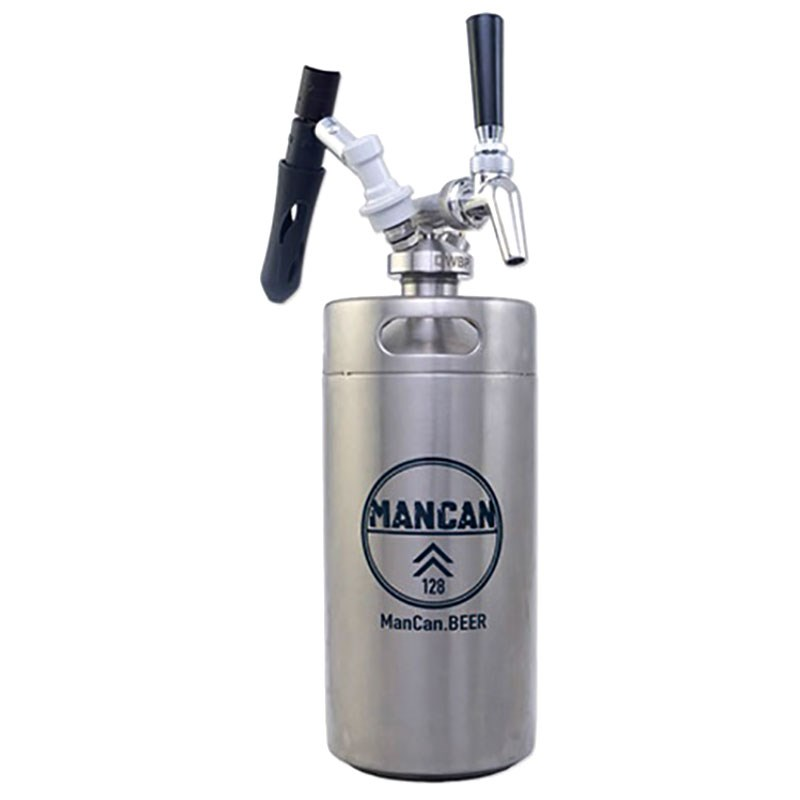 ManCan Stainless Steel Growler Draft Serving System (128 oz with ...