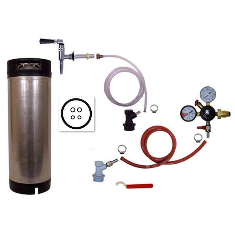 Nitrogen Regulator and Stout Faucet Combo Dispense Stouts Nitro Coffee