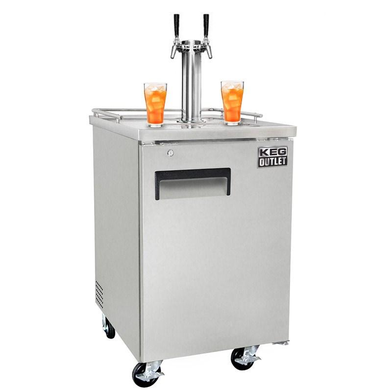 2 Faucet Commercial Grade Kombucha Kegerator (Stainless)