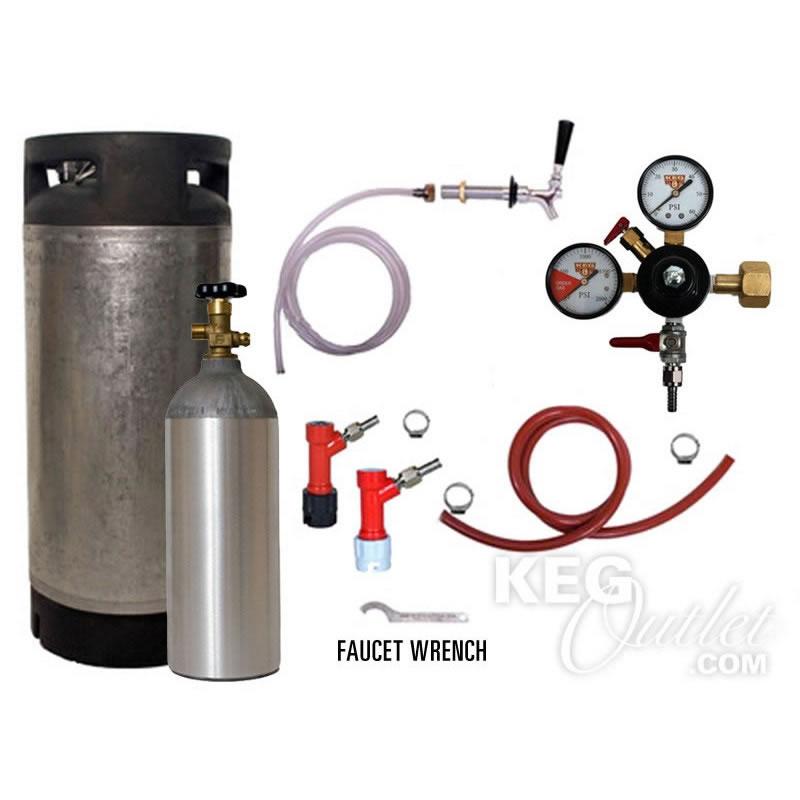 Draft Beer Refrigerator Keg Kit - Pin Lock - Complete Kit