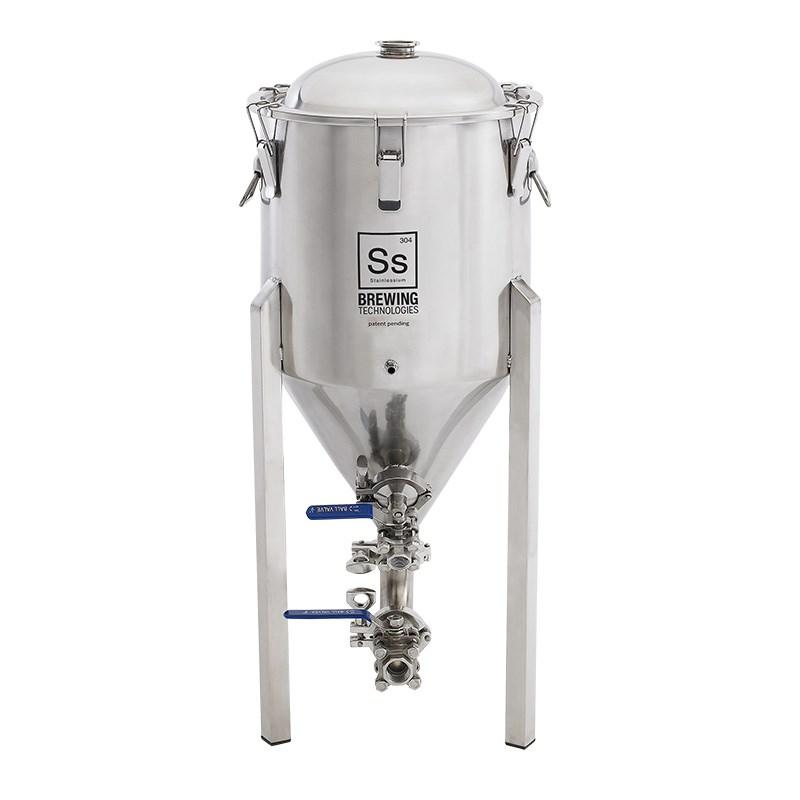 Ss brewtech 14 gallon chronical conical fermenter for Craft a brew fermenter