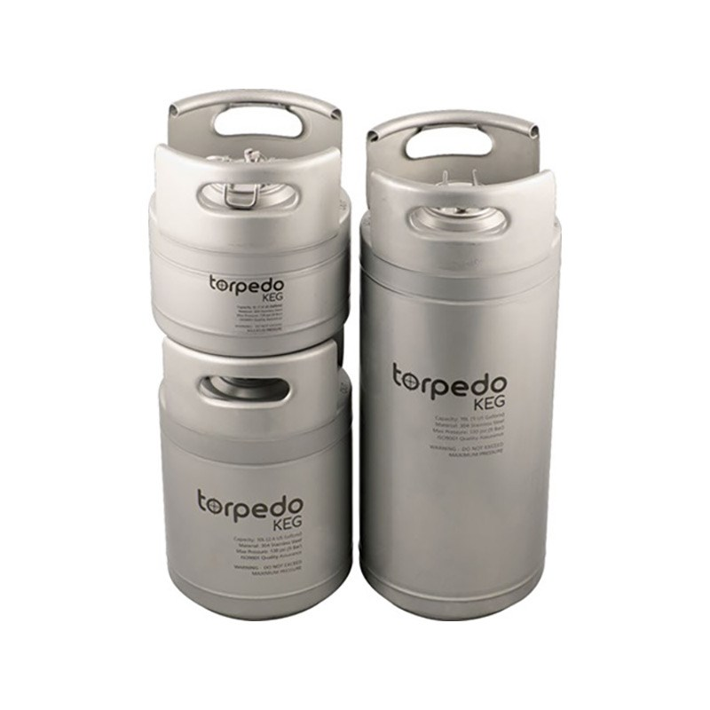 3 Gallon Torpedo Ball Lock Corny Kegs Stackable Kegs
