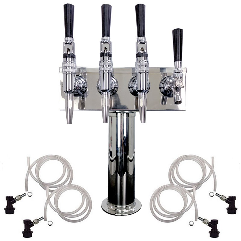 4 Faucet Cold Brew Coffee Draft Tower - 1 Cold Brew & 3 Nitro